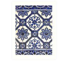 Portugal Tile Number Seven Art Print