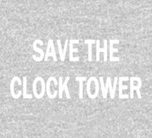 Save The Clock Tower (White) Kids Clothes