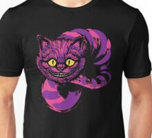 Grinning like a Cheshire Cat (purple version) Unisex T-Shirt