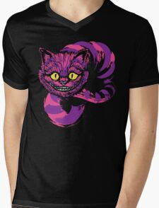 Grinning like a Cheshire Cat (purple version) Mens V-Neck T-Shirt