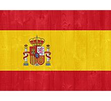 Spain flag Photographic Print