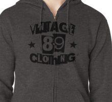 vintage89 logo tee black Zipped Hoodie