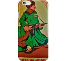 Chinese Mao Era Propaganda Poster iPhone Cases: Fighting the Imperial Invaders! iPhone Case/Skin
