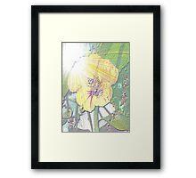 Sunlight on nasturtium Framed Print