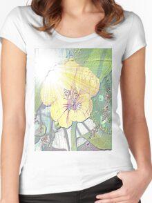 Sunlight on nasturtium Women's Fitted Scoop T-Shirt