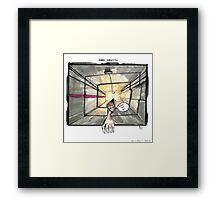 Nakatomi Lift Shaft Christmas Card Framed Print