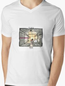 Nakatomi Lift Shaft Christmas Card Mens V-Neck T-Shirt
