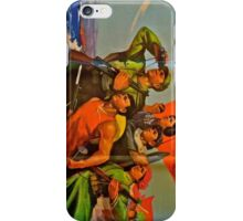 Chinese Mao Era Propaganda Poster iPhone Cases: The Sea is Red! iPhone Case/Skin