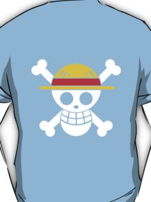 Luffy - OP Pirate Flags - Colored T-Shirt