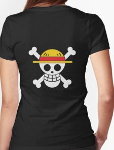 Luffy - OP Pirate Flags - Colored Womens Fitted T-Shirt