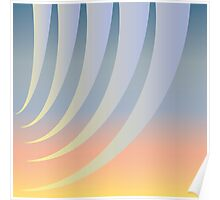 Curtain of morning rays opening Poster