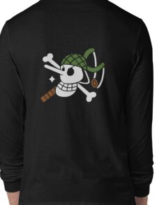 Ussop - OP Pirate Flags - Colored Long Sleeve T-Shirt