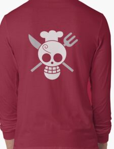 Sanji - OP Pirate Flags - Colored Long Sleeve T-Shirt