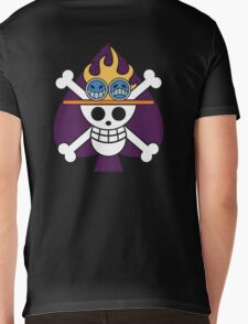 Ace - OP Pirate Flags - Colored Mens V-Neck T-Shirt