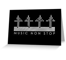 PIXEL8   Music Non Stop   Kraftwerk Monochrome Greeting Card