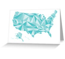 Abstract America Winter Crystal Greeting Card