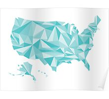 Abstract America Winter Crystal Poster