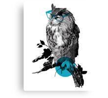 Hipster Bird is Not a Vegan Canvas Print