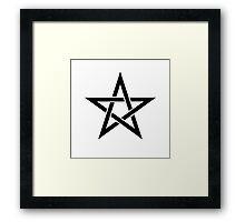 Pentagram Ideology Framed Print