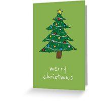 Ugly Christmas Tree Greeting Card