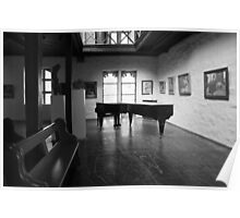 The old grand piano Poster