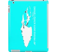 iPad Case - My Parents Don't Know I Smoke - Light Blue iPad Case/Skin