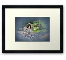 Dreams of Golden Scales Framed Print