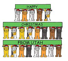 Cats in Santa hats Happy Christmas from Utah by KateTaylor