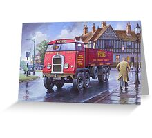 Scammell 8 1937 Greeting Card