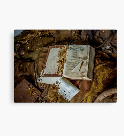 Abandoned Book Canvas Print