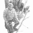 field scientist 14 drawing by Mike Theuer