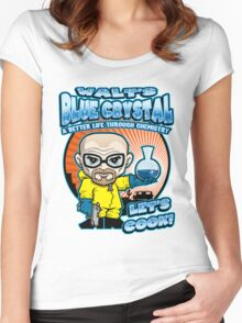 Walt's Blue Crystal Women's Fitted Scoop T-Shirt
