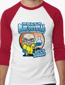 Walt's Blue Crystal Men's Baseball ¾ T-Shirt