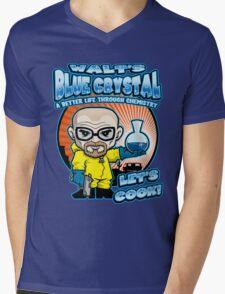 Walt's Blue Crystal Mens V-Neck T-Shirt