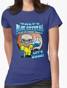 Walt's Blue Crystal Womens Fitted T-Shirt