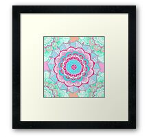 Tropical Doodle Flower Framed Print