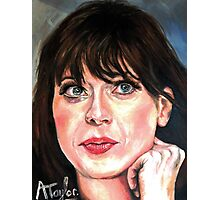 Zooey Deschanel Photographic Print