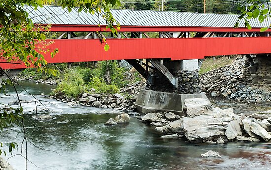 Taftsville Covered Bridge Vermont by Edward Fielding