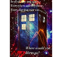 The Galaxy Tardis Photographic Print