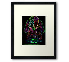 Egyptian Psychedelic Rave Face Framed Print