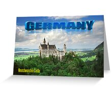 Neuschwanstein Castle Bavaria Germany Greeting Card