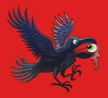 Crow Stealing an Eye One Piece - Short Sleeve