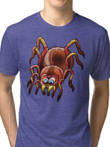 Tarantula Sinking its Fangs into Fresh Flesh Tri-blend T-Shirt