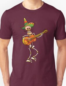 Mexican Skeleton Playing Guitar Unisex T-Shirt