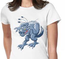 Werewolf Scratching Spooky Fleas Womens Fitted T-Shirt