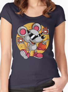 Vintage Mouser Women's Fitted Scoop T-Shirt