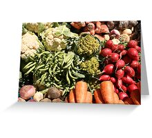 Radishes Cauliflower and Other Vegetables Greeting Card