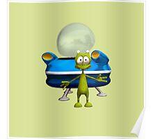 Friendly Alien Poster