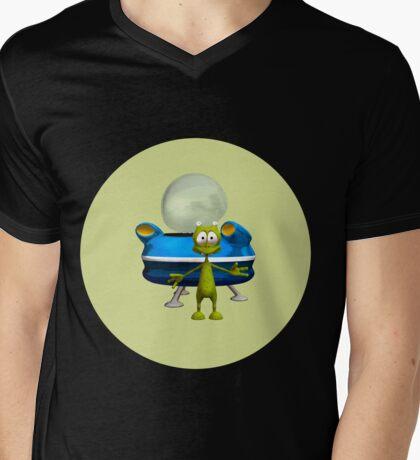 Friendly Alien Mens V-Neck T-Shirt