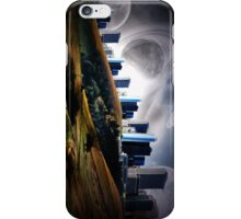 Land city and planets  iPhone Case/Skin